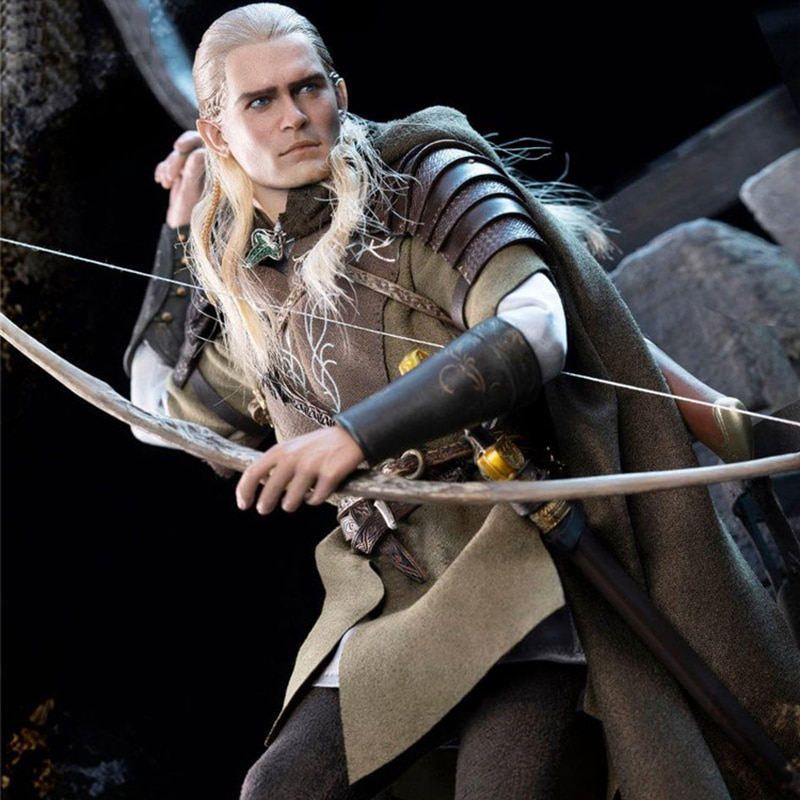 Asmus Toys LOTR029 1/6 Male Soldier Action Figure Elf Prince LEGOLAS Collectable Full set Toy Bow and Arrow Model Accessories