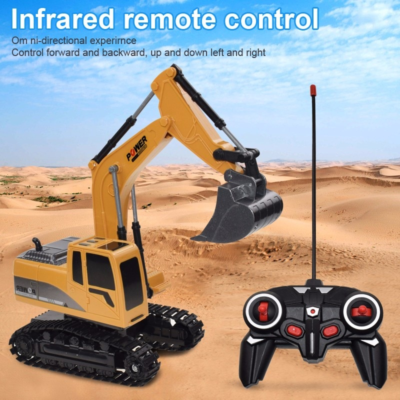 RC Trucks Mini Remote Control Bulldozer 1:24 Alloy Plastic Engineering Car Dump Truck Crane Excavato