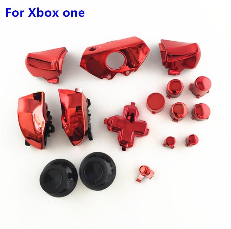 Para Xbox uno Xbox One parte de reemplazo completo cromo ABXY Dpad botones activadores R1L1 1 R2L2 Kits de MOD de controlador Kit 16 unids/set