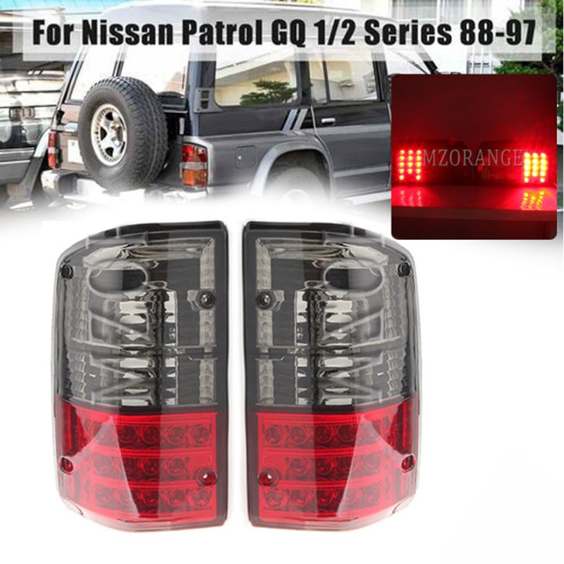 Tail Light For Nissan Patrol GQ 1988 1988-1997 Series 1 2 26555-05J00 Red Smoked Rear Left/Right Rear Bumper Brake Stop Lamp