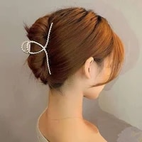 korea matte metal large cross hair catch for women simple hollow ponytail clip girls fashion trend hair accessories new 2021