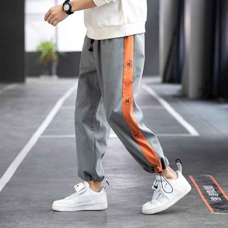 Мужские повседневные брюки весна 2021 новые мужские корейские новые эластичные спортивные дышащие брюки стройнящие брюки маленькие штаны