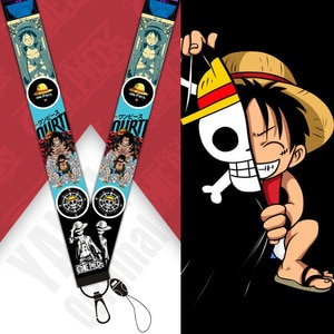 Anime one piece Keychain Rope Mobile Phone Neckband Lanyard Key ID Card USB Badge Clip DIY Lasso Lanyard cosplay Accessories