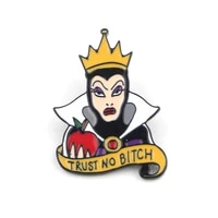 lb1629 queen snow white enamel pin movie brooches bag lapel pin cartoon badge backpacks decoration jewelry gift accessories