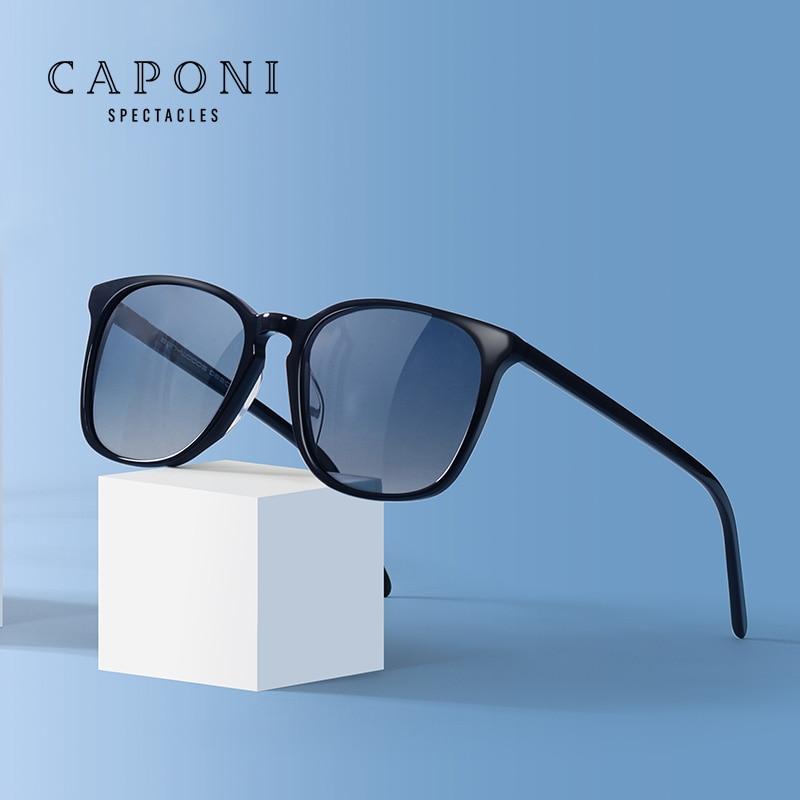 CAPONI-نظارات شمسية مستقطبة للرجال ، نظارات شمسية للرجال بخمسة ألوان ، نمط عتيق ، شكل مربع ، CP4387