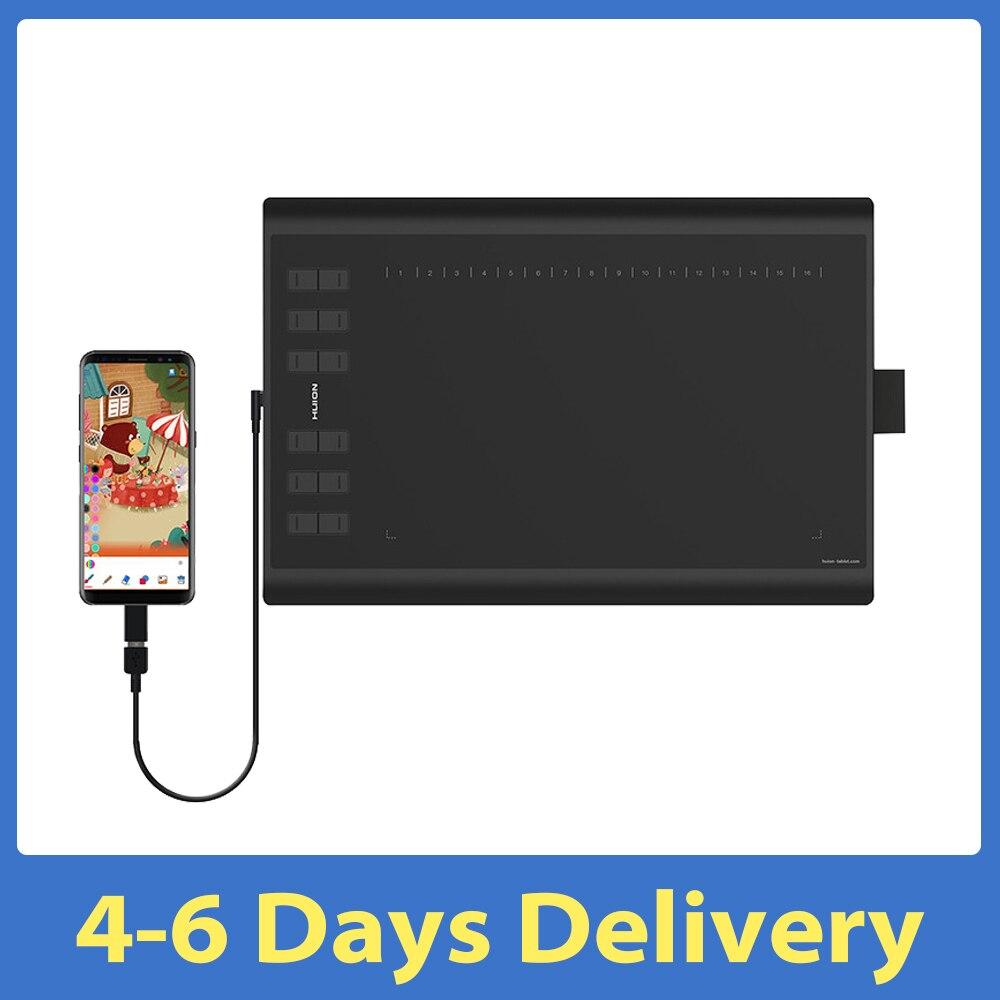 الأصلي Huion H1060P لويحة الرسم البياني المصغّر USB المهنية الرقمية اللوحة بطارية خالية السلبي القلم تابلت للكتابة