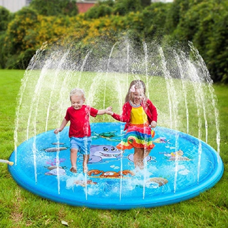 Swiming Pool Mat Kids Inflatable Pool Games Children Summer Garden Toys Sprinkle Splash Water Mat Outdoor Tub Spray Cushion Pad