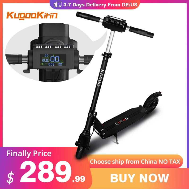 Kugookirin S1 سكوتر كهربائي 30KMH الكبار E سكوتر 30 كجم المدى طوي الذكية LED عرض 350 واط قوية لوح التزلج الكهربائية