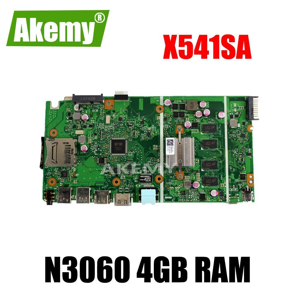 Placa base X541SA N3060 CPU 4GB RAM para For For For For Asus X541 X541S X541SA placa base de ordenador portátil X541SA placa base X541SA prueba de placa base OK