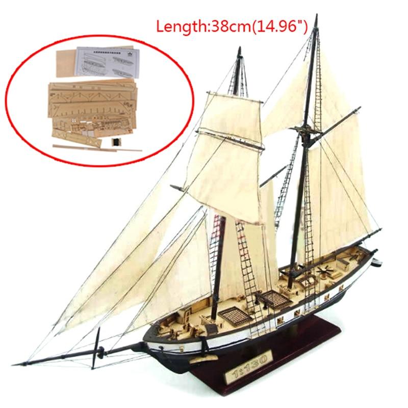 Hot 1:130/100/70/30 Sailing DIY Ship Assembly model Classic Wooden Self-assembly sailboat model gluing model building kits