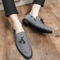 plus size38 48 new mens fashion canvas business shoes doug leather pointed classic wedding shoes casual tassel flat shoes %d0%be%d0%b1%d1%83%d0%b2%d1%8c