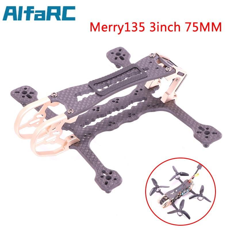 AlfaRC Merry135 3 بوصة 75 مللي متر المروحة مسواك طقم إطارات RC الطائرة بدون طيار FPV سباق كوادكوبتر حرة دعم CADDX فيستا