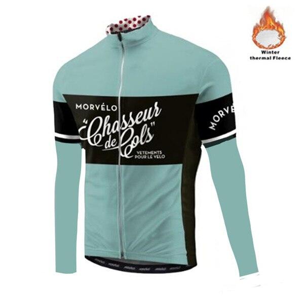 Morvelo, invierno, Polar térmico, Jersey de ciclismo para hombres, Ropa de ciclismo de manga larga, Ropa de bicicleta, Ropa de ciclismo, chaqueta de maillot cálida