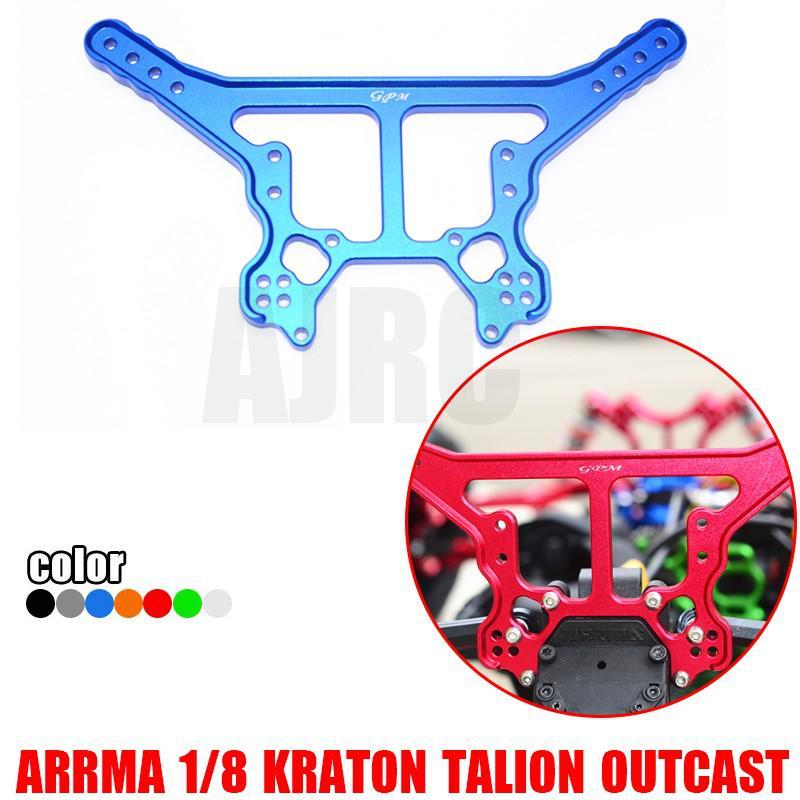 ARRMA 1/8 KRATON 6S/TALION/OUTCAST/soporte de fijación del amortiguador trasero notorio, ARRMA-AR330222 de la placa de fijación de la barra superior trasera