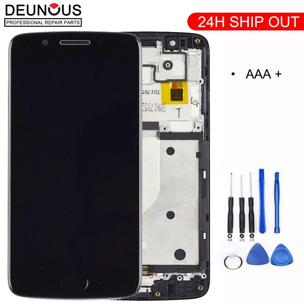 شاشة LCD تعمل باللمس لموتورولا موتو G5 ، شاشة بديلة بإطار ، XT1672 XT1676 ، جديد