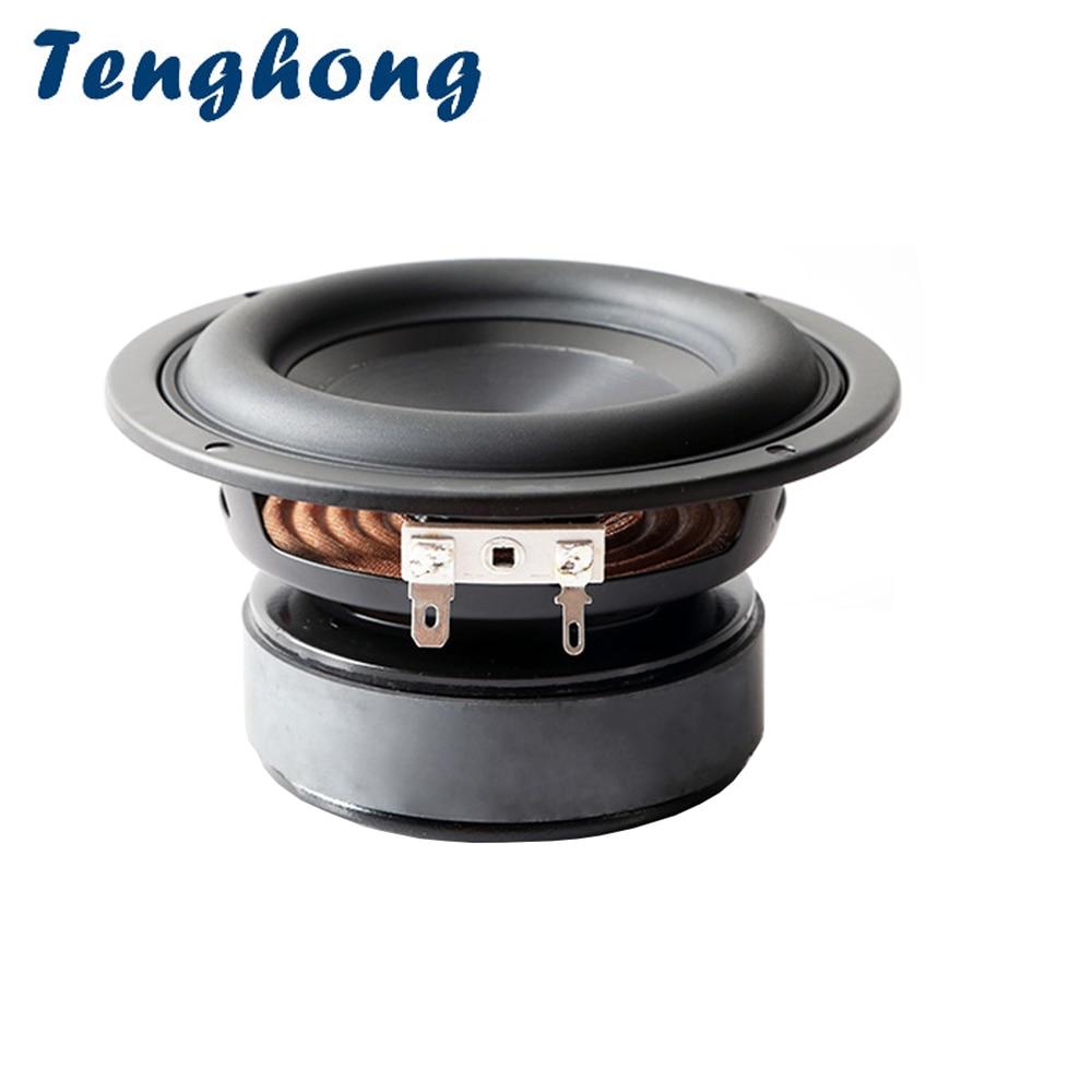 Tenghong 1 قطعة 4 بوصة مضخم صوت المتكلم 4/8 أوم 40W باس الصوت وحدة اللغة ايفي رف مكبر الصوت ل المسرح المنزلي DIY