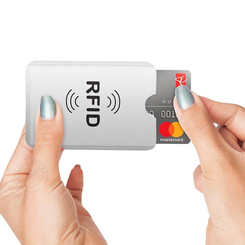 10Pcs/Lot Anti Theft Bank Credit Card Protector NFC RFID Blocking Cardholder Wallet Cover Aluminium