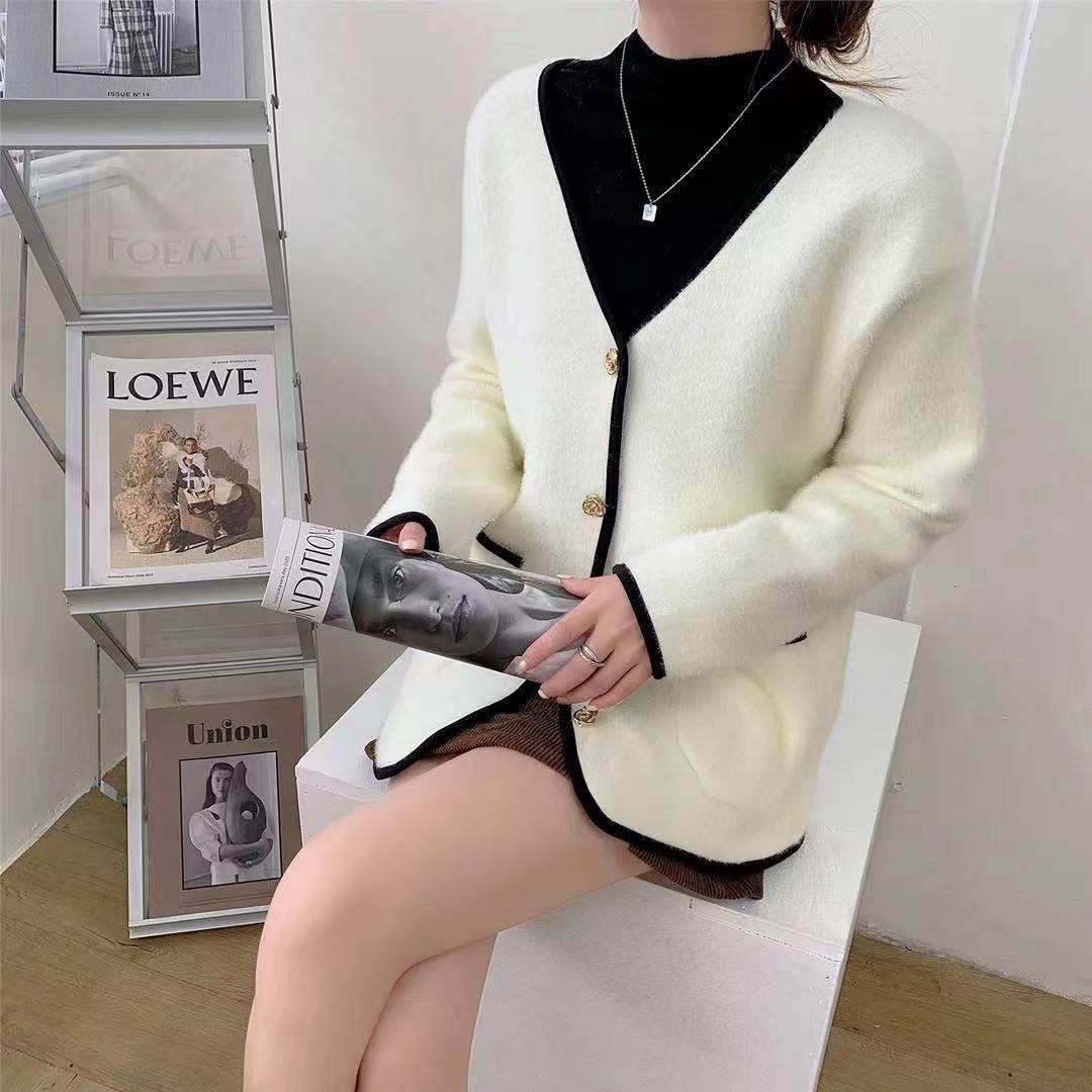 Женские топы, женские свитера, кардиган, теплый вязаный свитер, куртка, модные вязаные кардиганы, пальто, женские свободные свитера на осень ...