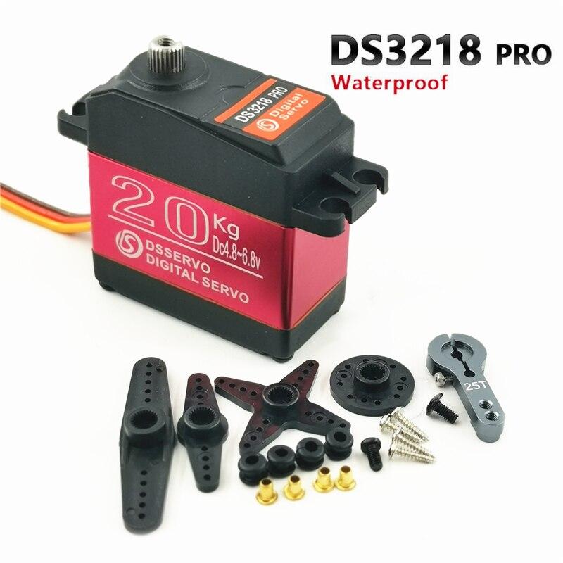 Impermeable rc servo DS3218 Actualización y PRO de alta velocidad servo digital de engranaje de metal baja servo 20KG/09S por 1/8 Escala de 1/10 coches RC