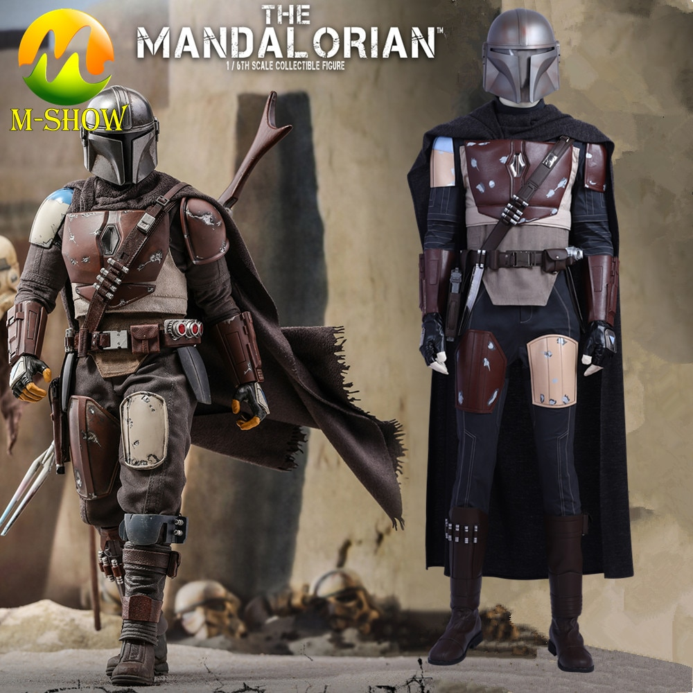 O mandalorian cosplay traje crise na terra infinita mandalorian outfit halloween super-herói batalha terno para homem feito sob encomenda