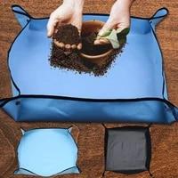 gardening plant change pad waterproof anti dirty thicken basin mix soil flower land pad reusable transplanting pot