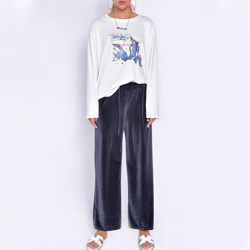 Pantalones de chándal largos de terciopelo para mujer, conjuntos de pantalones deportivos...