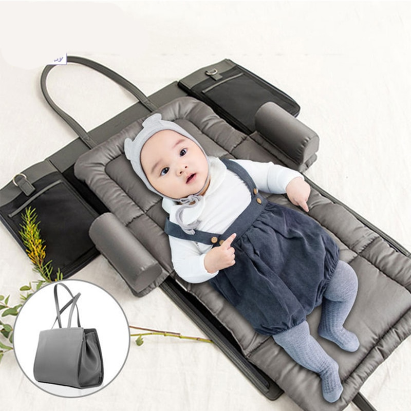 Multi-Function Diaper Bag 3in1 Travel Portable Sleeping Baby Bed Crib For Baby Newborns Portable Cribs For Stroller Bag Baby Bed