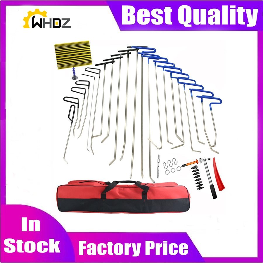 42Pcs  Tools Push Rods Dent Remover Tools  Hail Damage Removal Car Ding Dent Repair Rod Hook 4pc newly design rods set of tools hook tool push rod best hook paintless dent repair