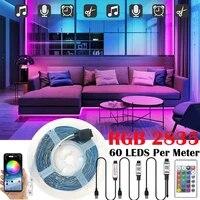 rgb smd 2835 led lights strip 5v usb bluetooth control 24 key flexible lamp decoration room tv background lighting luces string