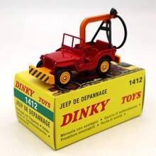 Atlas Dinky Toys 1412 Jeep De Depannage 트럭 레드 다이 캐스트 모델 자동차 컬렉션