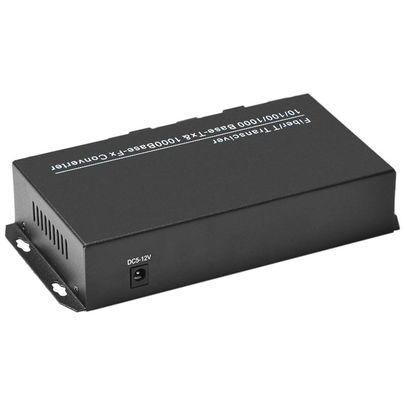 Gigabit 8 Fiber port 2 RJ45 Ethernet Ports Fiber Optical Transceiver Single-Mode Optical Fiber Media Converter Fiber Switch enlarge