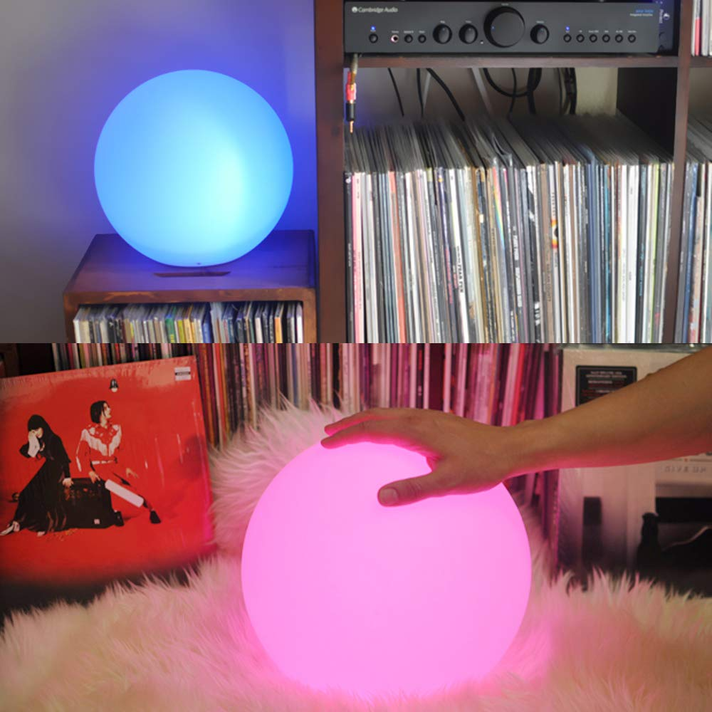 Wasserdichte LED Ball Nacht Licht, Wiederaufladbare LED Orb Licht, Fernbedienung, 16 RGB Farben Nacht Lampe für Kinder Geschenke