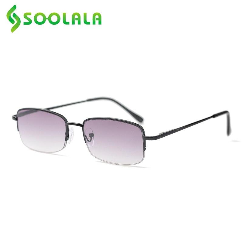 Soolala 2020 primavera articulada semi-sem aro óculos de sol óculos de leitura feminino masculino óculos de leitura presbiopia + 1.0 1.5 2.0 a 3.5