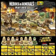 Héros généraux militaires 8in1 230 pièces battle front modèle bloc de construction enfants éducatifs assembler jouet 2020 nouveau bloc