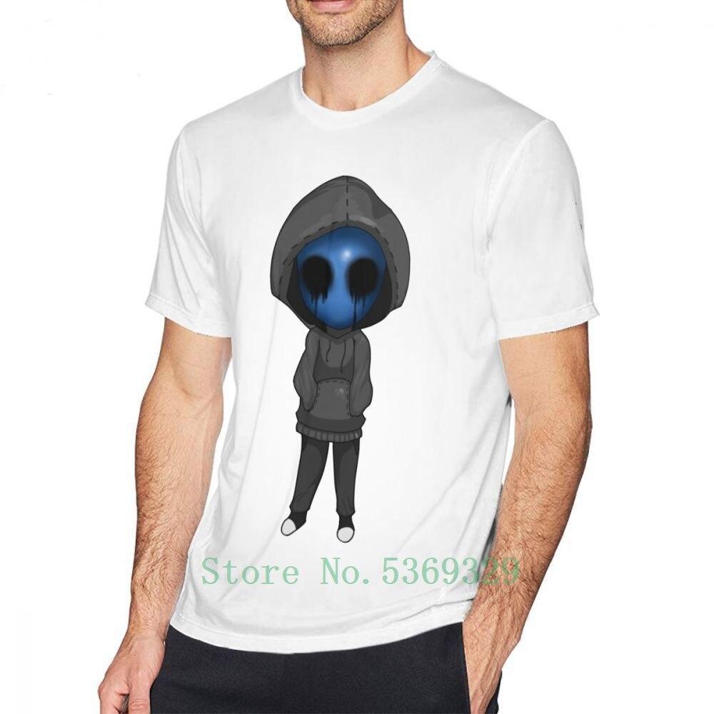 Creepypasta T Shirt Eyeless Jack Creepy camiseta pasta 5xl divertida camiseta estampada Hombre manga corta Camiseta algodón