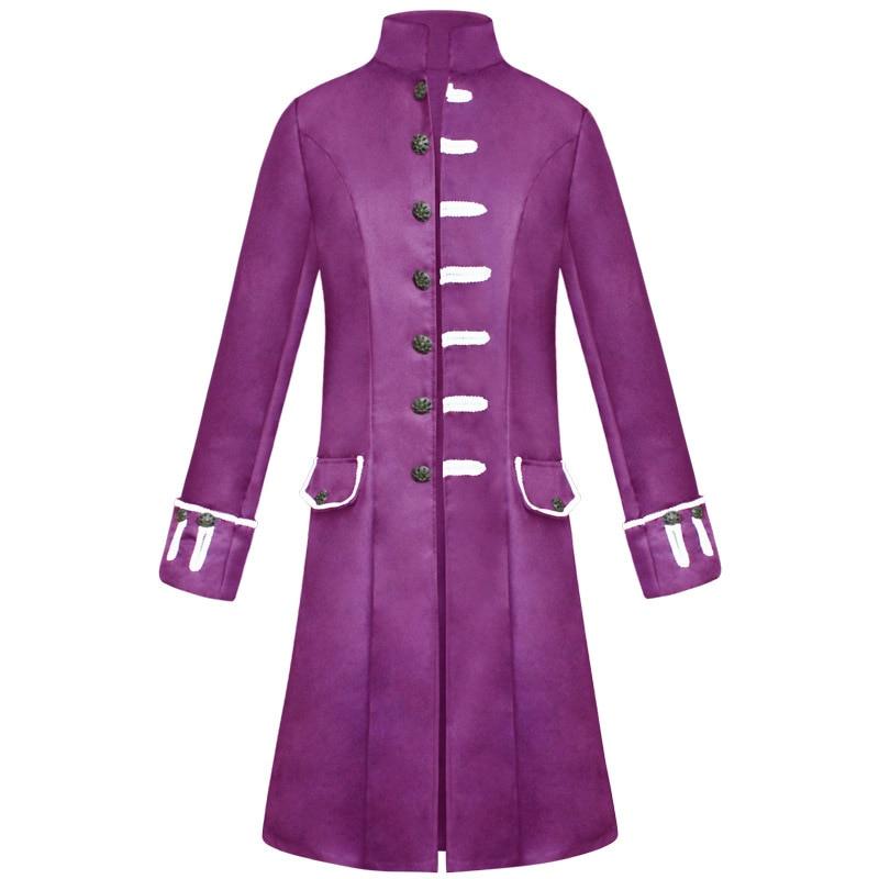 Vintage Medieval hombres chaqueta Retro renacimiento traje gótico Príncipe abrigo Halloween Cosplay disfraces