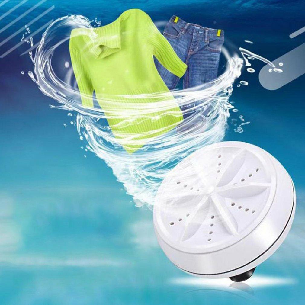 2 в 1 Ультразвуковая турбо стиральная машина портативная дорожная шайба воздушные пузырьки и Вращающаяся мини ультразвуковая стиральная машина вилка США