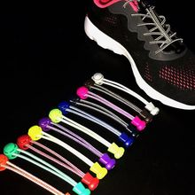 1Pair Reflective Elastic Shoelaces Stretching Lock Shoe Laces Brand No Tie Shoelace Outdoor Sneaker Lace Shoe accessories lacets