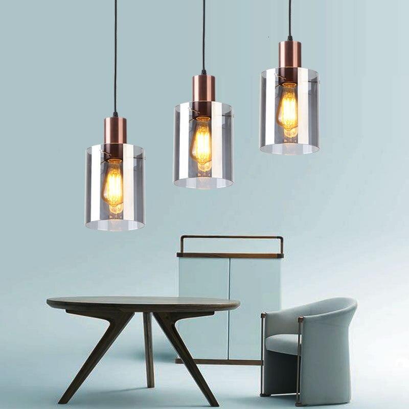 Estilo de diseñador europeo una lámpara de araña moderna concisa restaurante Bar contador dormitorio cabecera de una sola cabeza candelabro de cristal dorado