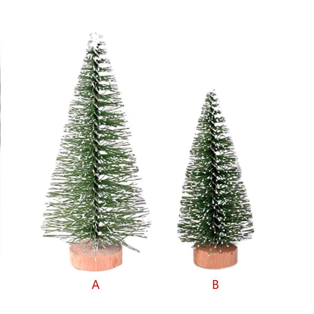 Árbol De Navidad Mini pino con Base De madera DIY mesa De casa decoración superior regalos colgantes adorno De Navidad 2020 Dropshipping #3