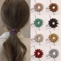 all match rubber band large size spiral shape winter furry chenille telephone wire hair tie elastic hair band women accessories