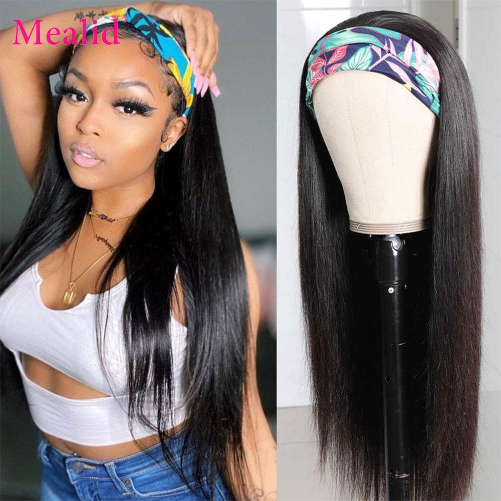 150 Density Headband Wig Human Hair Wigs 30 32 Inch Wig Glueless Malaysian Hair Wigs Remy Human Hair Wigs for Black women