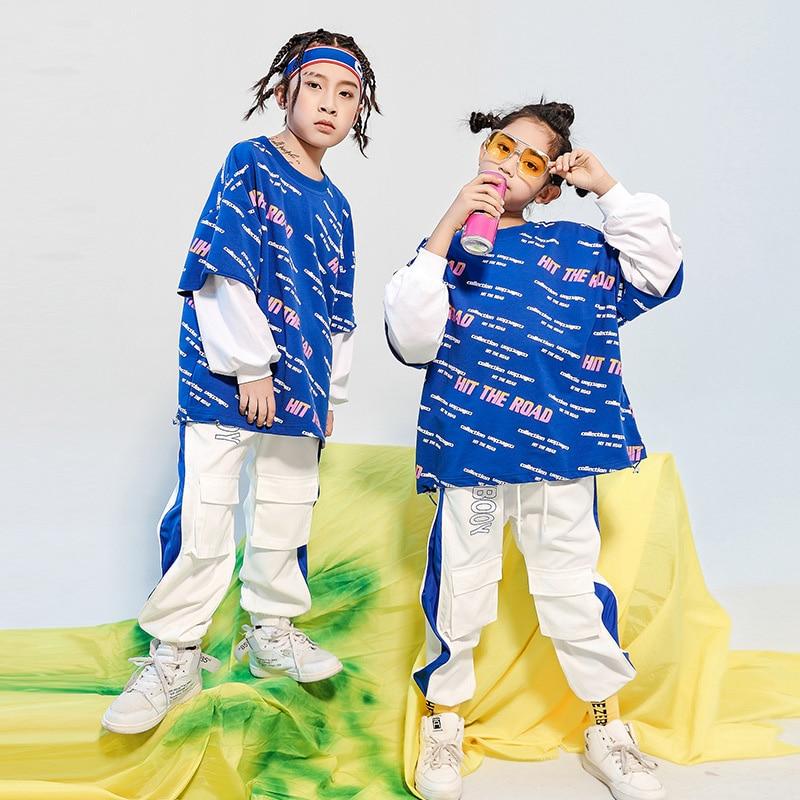 Ropa de Hip Hop para niños sudadera holgada de camisa de gran...