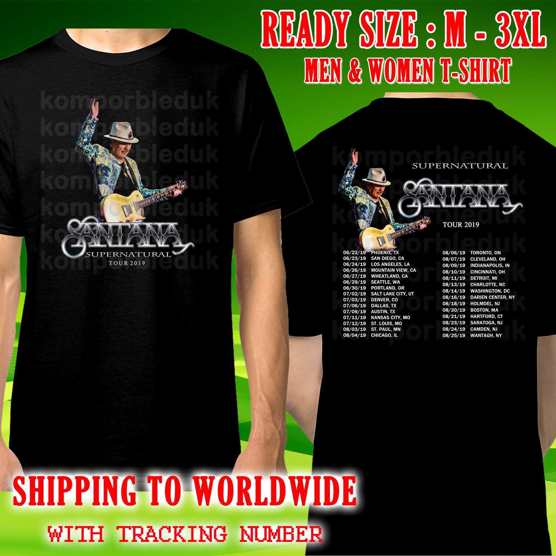 Camiseta negra con las citas de la gira Supernatural de Charles Santana, talla M, 3Xl, Kompor gratis, 2019