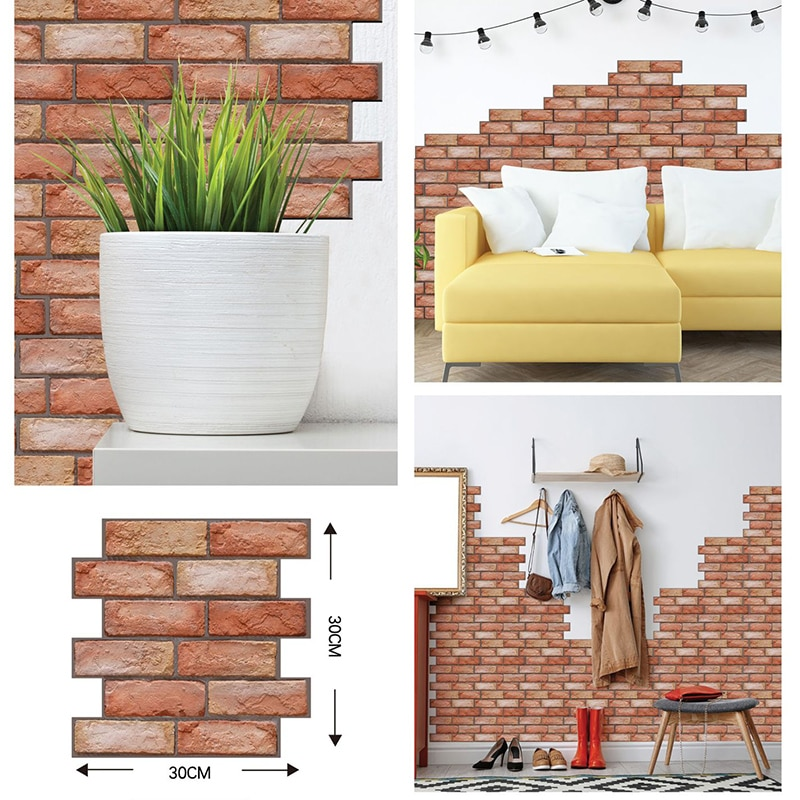Home Decor 3D PVC Wood Grain Wall Stickers Paper Brick Wallpaper Self-adhesive Home Decor Kids Room Wallpaper Brick home decor 3d pvc wood grain wall stickers paper brick wallpaper self adhesive home decor kids room wallpaper brick