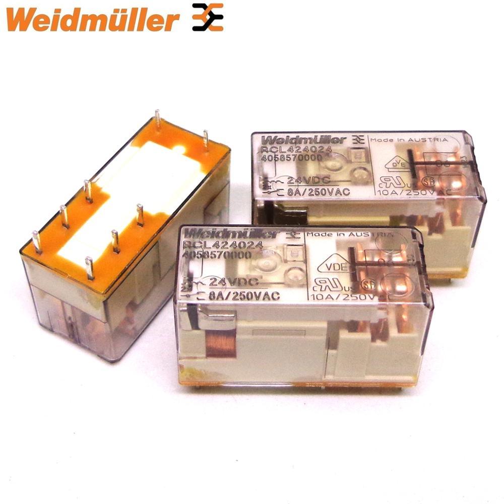 10 Uds Weidmuller relé de RCL424024 RCL114024 RCL424730 RCL114730 24VDC 230VAC nuevo y original Schneider de relé