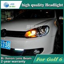 Boîtier de lampe frontale de style de voiture pour VW Golf 6 phares Golf6 phare LED DRL feux de jour bi-xénon HID accessoires