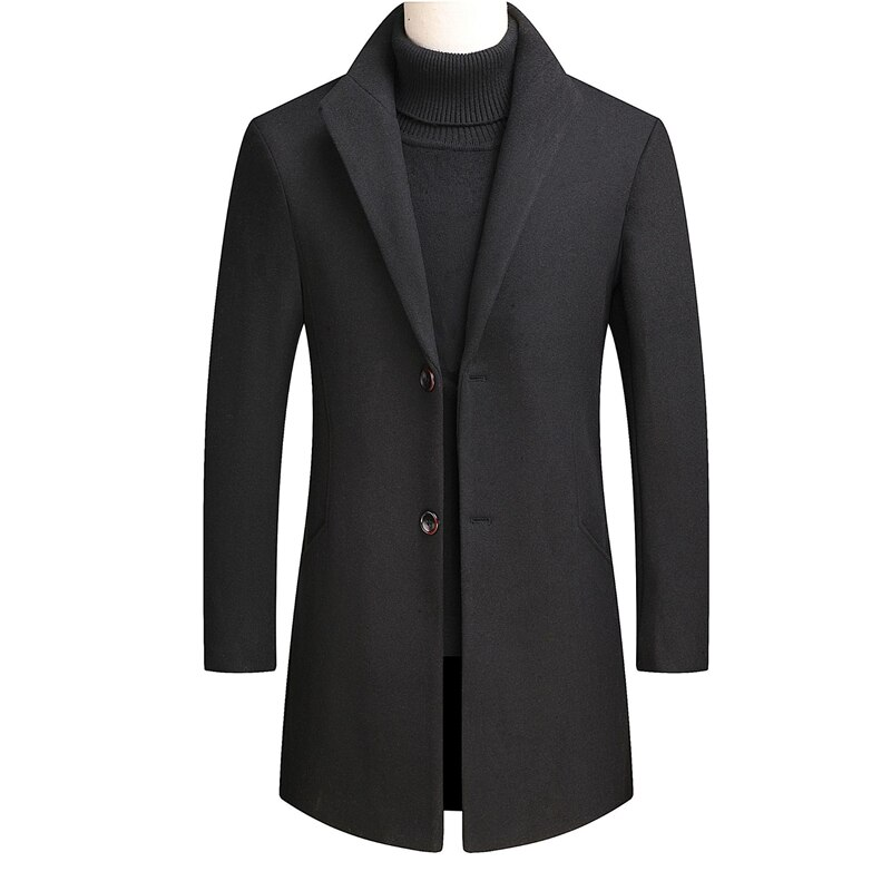 Зимняя мужская одежда, мужское пальто, шерстяное пальто, Мужское пальто, зимнее пальто, длинное пальто, пальто для мужчин, мужская куртка, Му...