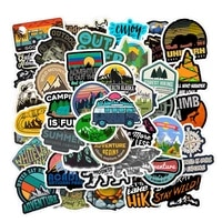 1050pcs camping landscape stickers outdoor adventure climbing travel waterproof sticker to diy suitcase laptop bicycle helmet