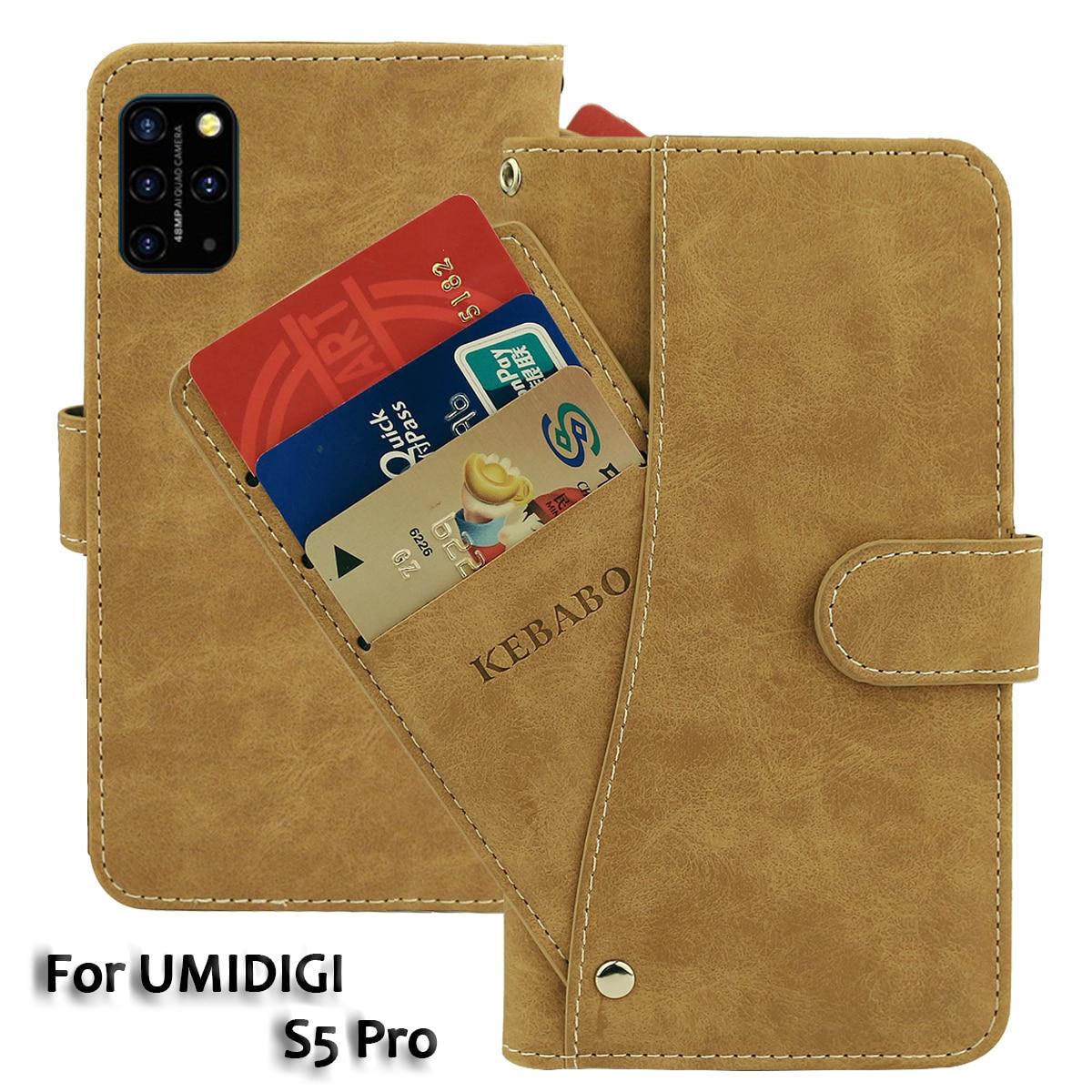 """Cartera de cuero UMIDIGI S5 Pro Case 6,39 """"Flip moda de lujo ranuras para tarjetas frontales fundas de negocios magnético bolsas de teléfono"""